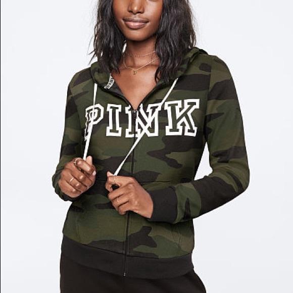 PINK Victoria's Secret Tops - 🎉Pink Victoria Secret Front Zip Hoodie